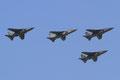 Formation aus vier J-22 Orao, einem leichten Jagdbomer und Aufklärer.