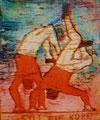 "Thomas Landt - Motiv 6 - ""Sylt steht Kopf"" - Aquatinta-Farb-Radierung - 21x15 cm - Kunstpostkarte - Sylt"