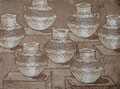 """Thomas Landt - """"Übersicht der Gute-Nacht-Töpfe"""" - Aquatinta-Radierung auf Bütten - 15x20 cm - 2007 - Auflage 6/10 - Sylt"""