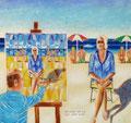 """Thomas Landt - """"Wer schön sein will, muss gemalt werden"""" - Öl auf Leinwand - 120x120 cm - 2013 - Sylt"""