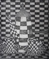 """Thomas Landt - """"Kaffee Worpswede"""" - Kaltnadel-Radierung auf Bütten - 24x20 cm - 2003 - Auflage 4/10 - Sylt"""