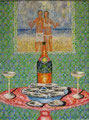 "Thomas Landt - ""Brutto-Sozial-Glück"" - Öl auf L. - 120x90 cm - 2008 - Sylt"