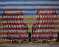 """Thomas Landt - """"Sternzeichen Sylt - Zwilling"""" - Farb-Linoldruck auf Bütten - 51x40,5 cm - 2009 - Auflage 3/10 - Sylt"""