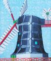 """Thomas Landt - """"Le moulin fou"""" - Öl auf L. - 80x90 cm - 2005 - Privatbesitz - Sylt"""