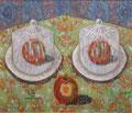 """Thomas Landt - """"Frei und angebissen"""" - Öl auf L. - 80x90 cm - 2007 - Sylt"""