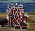 """Thomas Landt - """"Sternzeichen Sylt - Wassermann"""" - Farb-Linoldruck auf Bütten - 40x37 cm - 2008 - Auflage 6/10 - Syltz"""