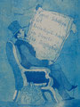"""Thomas Landt - Motiv 17 - """"Kunst-Schaffen ist ..."""" - Aquatinta-Farb-Radierung - 21x15 cm - Kunstpostkarte - Sylt"""