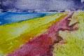 """Thomas Landt - """"Rote-Erde-Kliff-Kampen"""" - Aquatinta-Farb-Radierung auf Bütten - 35x20 cm - 2008 - Auflage 10/20 - Sylt"""