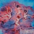 "Thomas Landt - Motiv 5 - ""Der Sonnen-Tanz"" - Aquatinta-Farb-Radierung - 21x15 cm - Kunstpostkarte - Sylt"