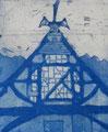 """Thomas Landt - """"Das Haus des Mutigen"""" - Aquatinta-Farb-Radierung auf Bütten - 20x14 cm - 2008 - Auflage 3/10 - Sylt"""