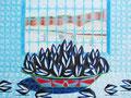"""Thomas Landt - """"Sylt Satt"""" - Öl auf L. - 90x120 cm - 2004 - Sylt"""