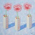 """Thomas Landt - """"Amaryllis"""" - Öl auf L. - 90x80 cm - 2005 - Privatbesitz - Sylt"""