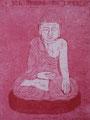 """Thomas Landt - """"Der Freund der Liebe"""" - Aquatinta-Farb-Radierung auf Bütten - 20x14 cm - 2007 - Auflage 4/10 - Sylt"""