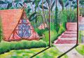 "Thomas Landt - ""Cafe Worpswede"" - Öl auf L. - 100x140 cm - 2006 - Privatbesitz - Sylt"