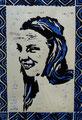 "Thomas Landt - ""Christine"" - farb. Zustandsdruck Linol - 30x20 cm - 2013 - Probe 1/5 - Sylt"