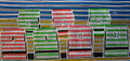 "Thomas Landt - ""Strand-Korb-Lotterie"" - Farb-Linoldruck auf Bütten - 50 x 90 cm - 2009 - Auflage 3/10 - Sylt"