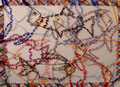 """Thomas Landt - """" Tarzan hilft den Fischen """" - Wolle mit Stopfnadel auf Leinwand - 50 x 70 cm - 2019 - Sylt"""