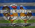 """Thomas Landt - """"Auf Augenhöhe"""" - Farb-Linoldruck auf Bütten - 35x40 cm - 2009 - Auflage 4/10 - Sylt"""