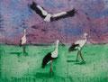"Thomas Landt - ""vor dem Abflug"" - Aquatinta-Farb-Radierung auf Bütten - 16x20 cm - 2008 - Auflage 3/10 - Sylt"