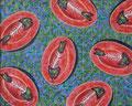 """Thomas Landt - """"Es wird gemalt, was auf den Tisch kommt"""" - Öl auf L. - 80x100 cm - 2010 - Privatbesitz - Sylt"""