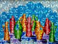 "Thomas Landt - "" Norddeutsches Vasen-Castings "" - Öl auf L. - 120 x 80 cm - 2017 - Sylt"