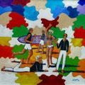 """Thomas Landt - """" Kampener Puzzelei """" - Öl auf L. - 90 x 80 cm - 2017 - Sylt"""