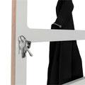 Garderobe STEP - Schlüssel (unsichtbare Magneten)
