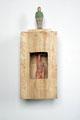 Kiste 15 - Junge und Affe, Pappelholz, Farbe - 2013