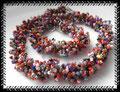 692 - Bunte gekordelte Halskette (EK)
