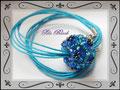 911 - Blue Flower Bead