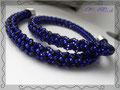 772 - Chenille blau schwarz