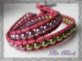 705 - Wickelarmband rosa lila grün (EK)