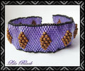 951 - Bronze Diamonds in Purple - B&B