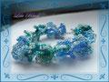 320 - Blue Ruffle Bracelet (Bead&Button)