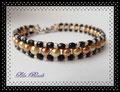 947 - Bracelet Gold and Black