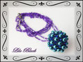 1042 - Purple Beady Ball