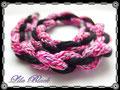 834 - Strickliesel - 3 Farben rosa - gekordelt (EK)