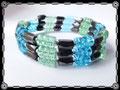 928 - Magnetic Green Blue Bracelet