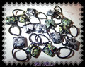 866 - Murano long - black green silver (EK)