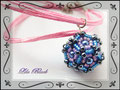 815 - Collier Dodecahedral by Eridhan - Pendant blue