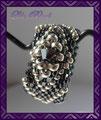 387 - Diamond Ring - silber Hämatit