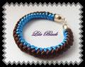 1003 - Snakeknot Bracelet - blue brown