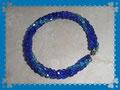 17 Spiral Herringbone Armband mit Glasschliffsteinen und einem Formdraht (EK)