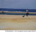 Wandeling #11 / acryl, pigment enhoutskool op linnen doek / 30x30cm