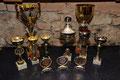 Pokale für Vereinsmeister,Schützenkönig,Juxbewerb