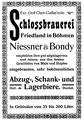 Brauerei Friedland - Reklame