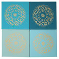 "Kraft-Bilder Set ""Mandala"" cool 4er Set"