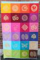 """Wandbehang """"Color Love"""" 4x6 Elemente individualisierbar nach Farben, Größe und Prints"""
