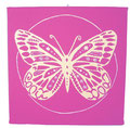 "Kraft-Bild ""Butterfly"" pink"