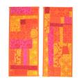 """Kraft-Bilder """"India Patch"""" aus handgedruckten Stoffen nach Wunsch in Farben und Größe"""